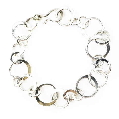 Sterling Silver Circle Links Bracelet - Mettle by Abby