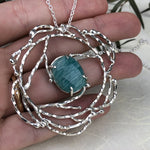 Striped Amazonite Wreath Necklace - Mettle by Abby