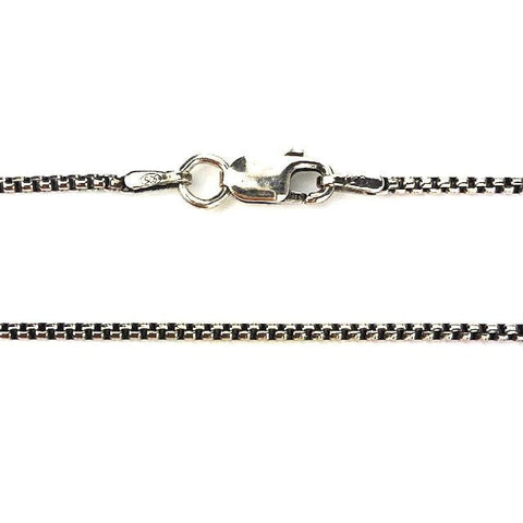 Sturdy Oxidized Silver Chain - Mettle by Abby