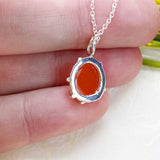 Sweet Petite Carnelian Necklace