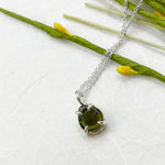 Sweet Petite Green Tourmaline Necklace
