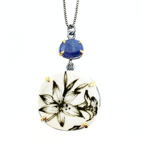 Tanzanite Tiger Lily Necklace