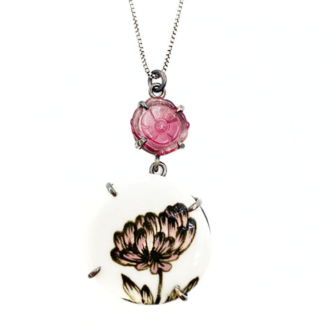 Tourmaline Chrysanthemum Necklace