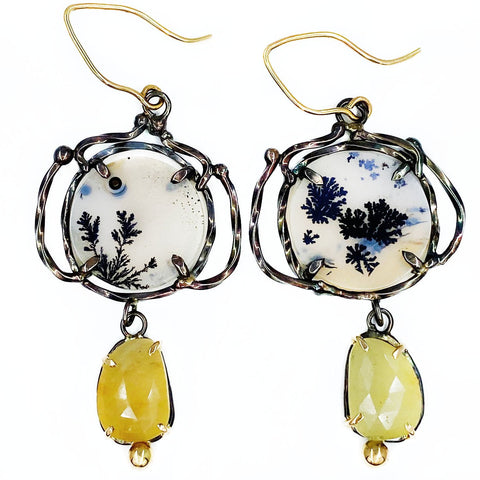 Victory Dendrite and Yellow Sapphire Earrings - Mettle by Abby