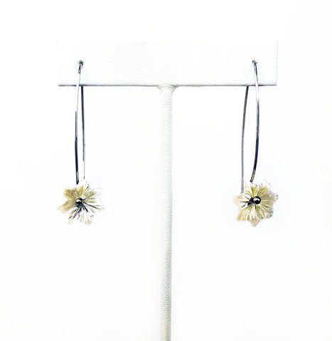 White Star Flower Earrings - Mettle by Abby