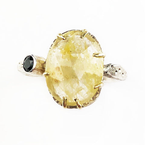 Yellow Sapphire and Green Tourmaline Ring - Mettle by Abby