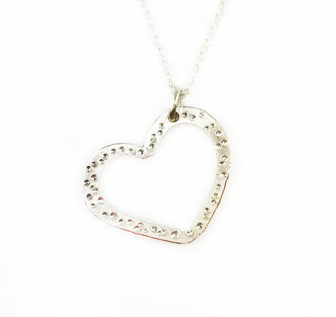 Star Dust Heart Necklace - Mettle by Abby
