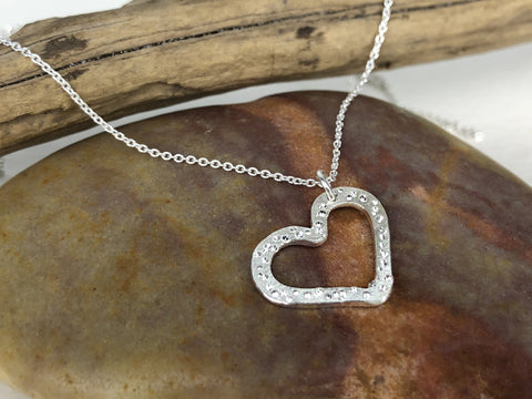 Star Dust Heart Necklace