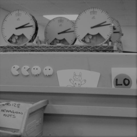 Clocks on test at the Bramwell Brown workshop