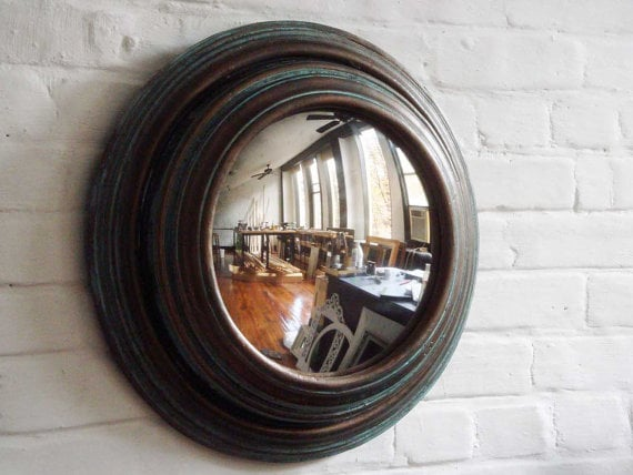 mirror made from old clock
