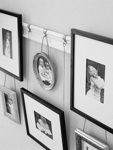 How to hang a clock from a picture rail