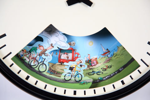 Cycling Clock with Weather