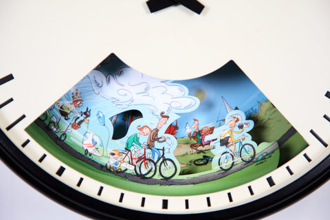 Wall Clock gift for Cyclists that tells the weather