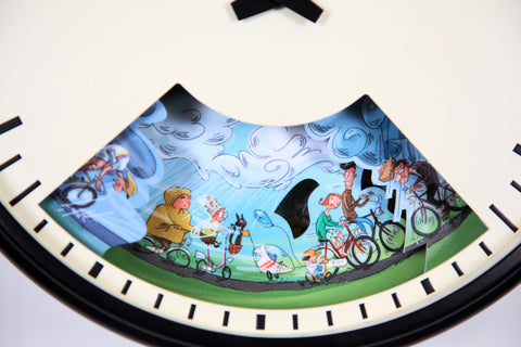 Wall clock for cycling enthusiasts