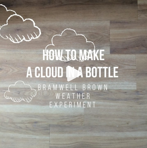 Cloud in a bottle experiment