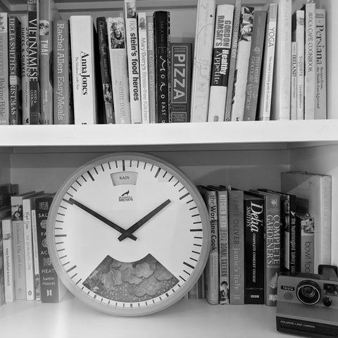 Position a clock on a shelf rather than hanging it