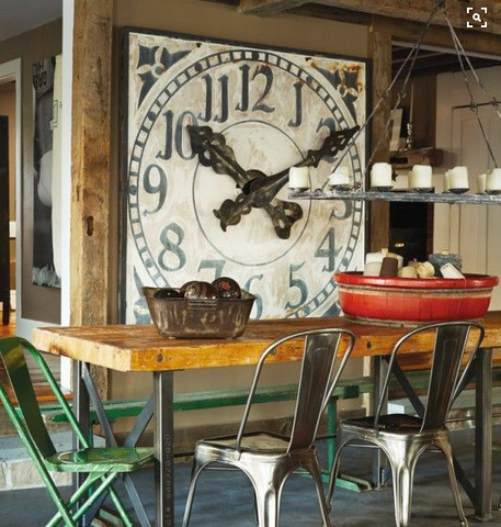 Giant Wall Clock in Kitchen