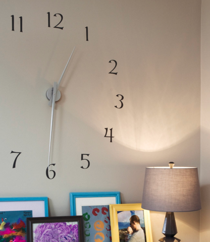 Massive contemporary wall clock