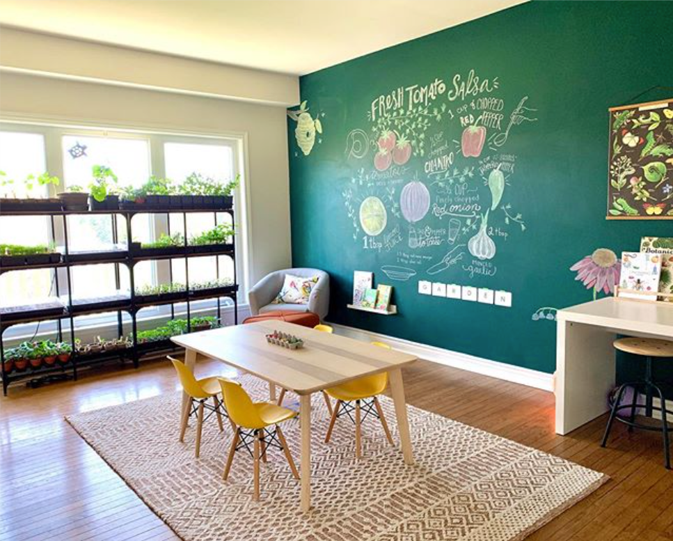 TheYesFamily chalkboard room for kids
