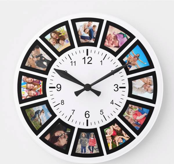 picture frame clock for kitchen