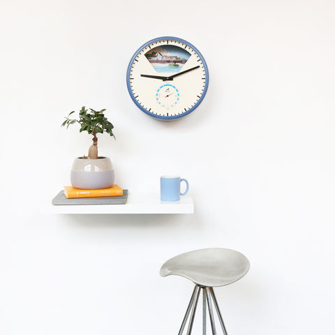 Contemporary Tide Clock with moving boats and sea