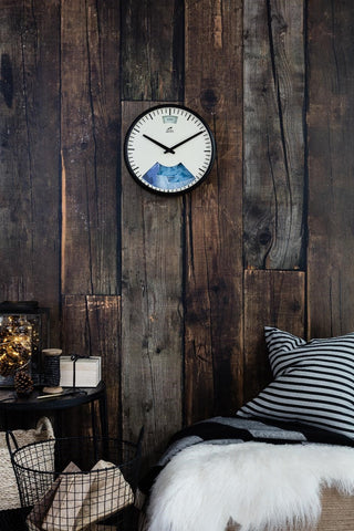 Limited Edition Weather Clock on Timber