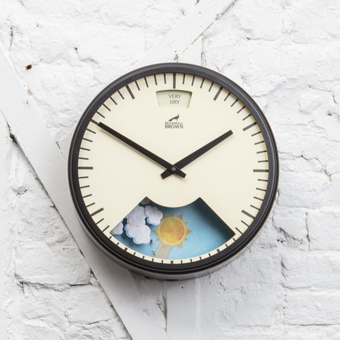 Black framed Weather Clock