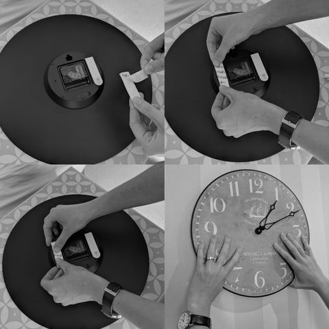 How to hang a clock with adhesive strips rather than nails