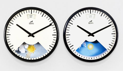 Traditional Weather Clock side by side