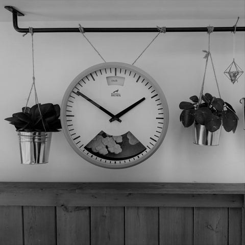How to hang a clock from a rail or the ceiling