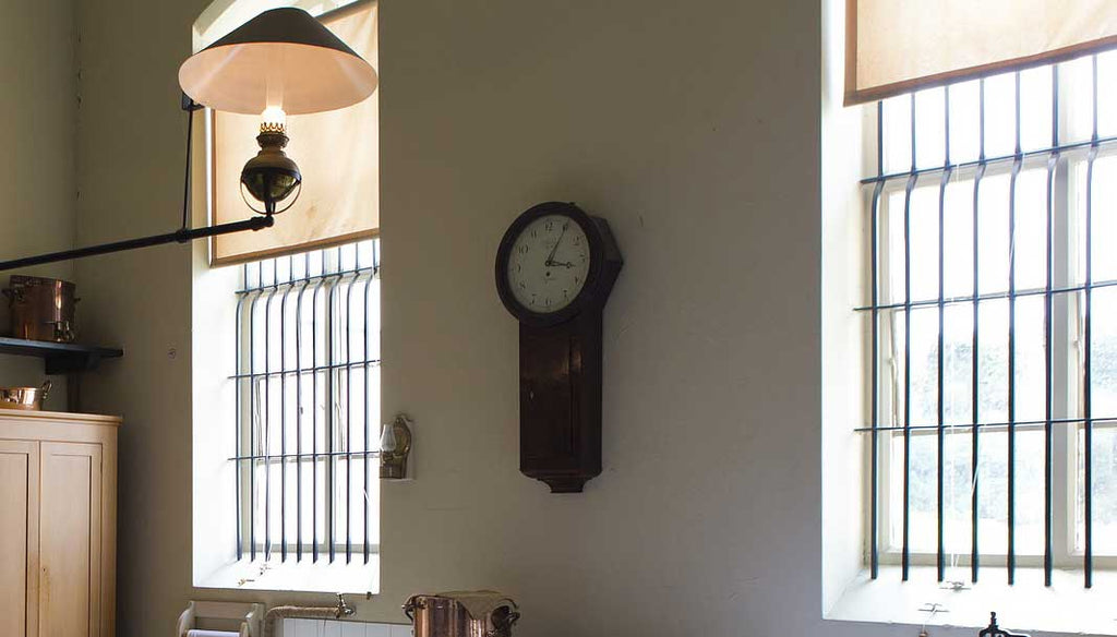 heavy grandfather wall clock - how to hang