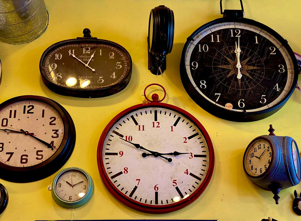 old clocks on the wall