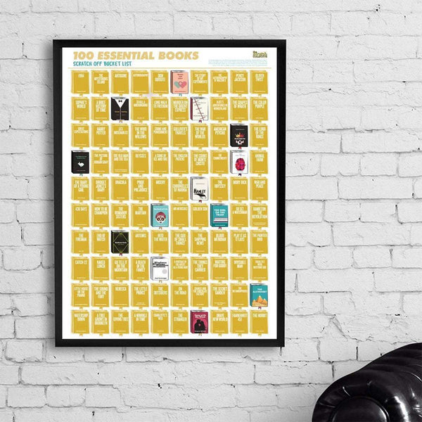 Scratch-off poster gift idea