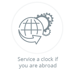 Clock Servicing from Overseas