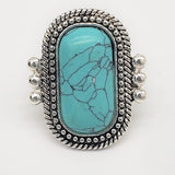 Turquoise Braid Ring