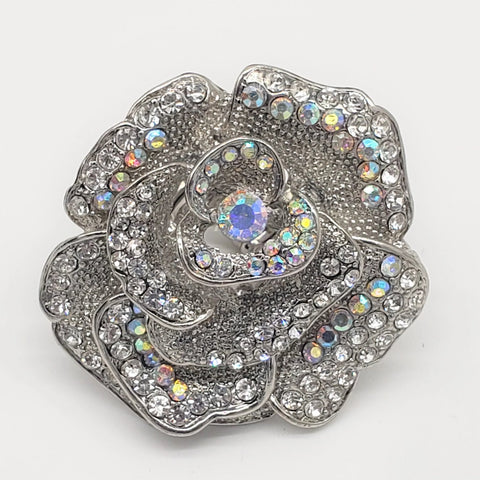 Crystal Floral Ring