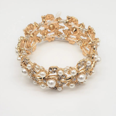 Pearl Crystal Accent Bracelet