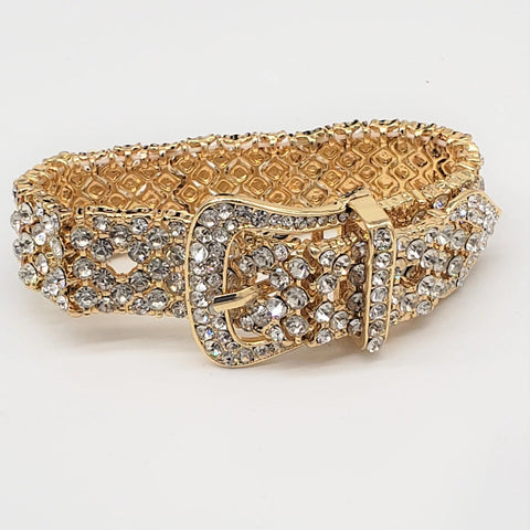 Crystal Buckle Bracelet-Gold
