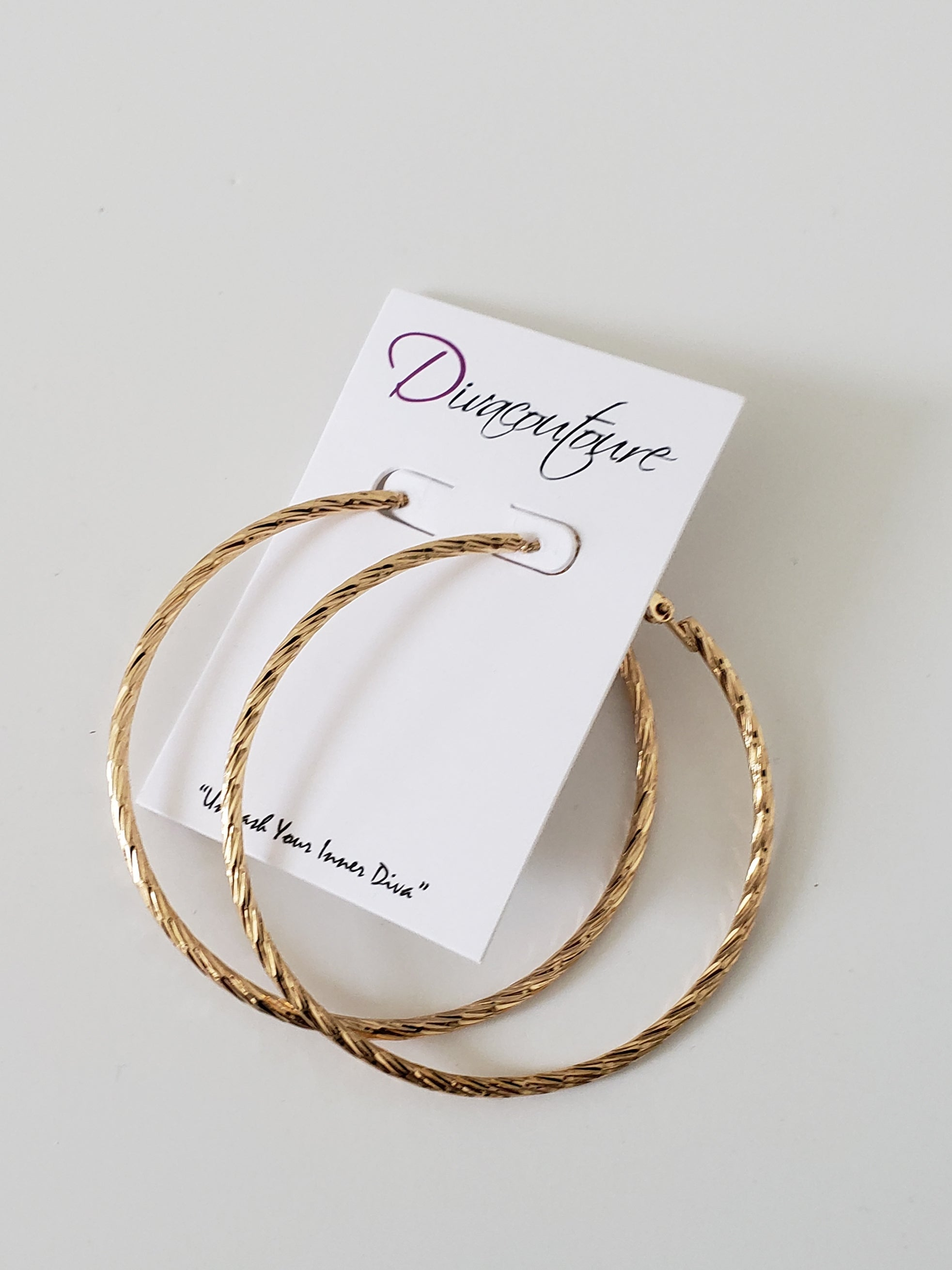 Gold Swirl Hoop Earrings