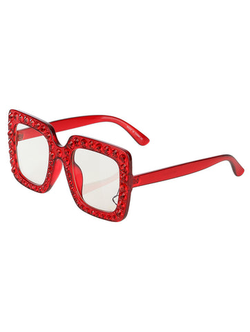 Red Stone Accent Sunglasses