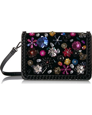 Floral Sequin Accent Handbag