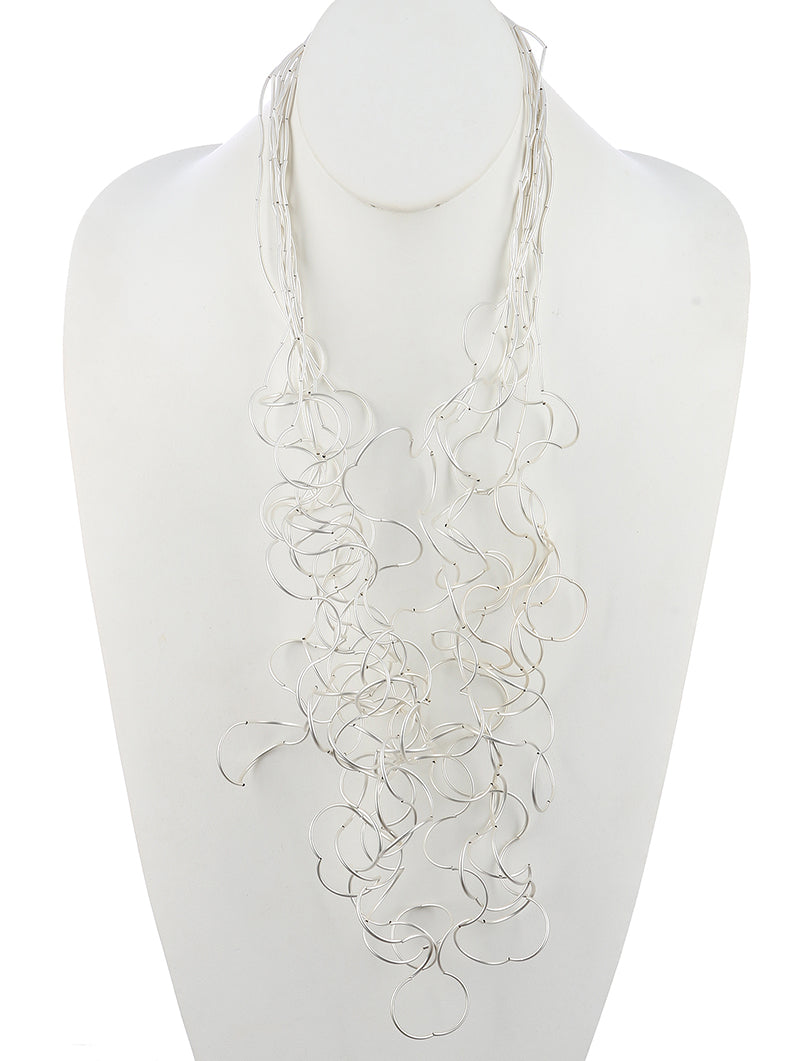 Silver Squiggly Necklace