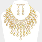 Crystal Goddess Necklace Set-Gold