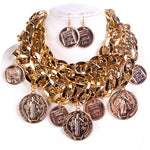 LUXE-Multicoin Necklace Set