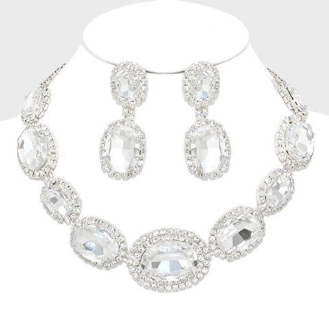 Round Crystal Necklace Set
