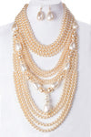 Textured Pearl Necklace Set