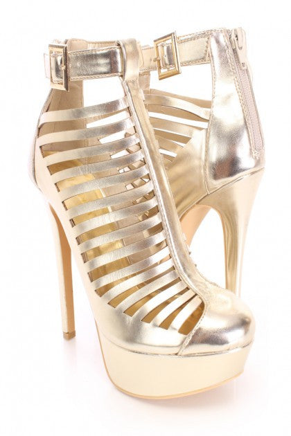 Gold Caged Heel
