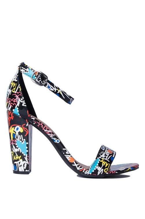 Black Graffiti Heels