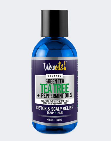 Wow Oils • Organic Tea Tree, Green Tea & Peppermint Oils