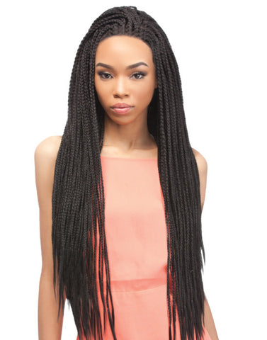 "Box Braid Small 24"" • Pre-looped"